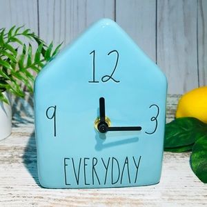 Rae Dunn 🆕 EVERYDAY clock home decor blue